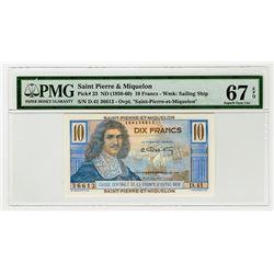 Caisse Centrale de la France d'Outre-Mer. 1950-1960. Issued Banknote.