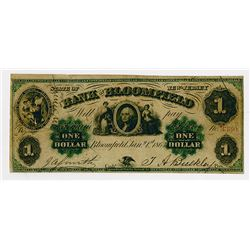 Bank of Bloomfield. 1863. Obsolete Scrip Note.