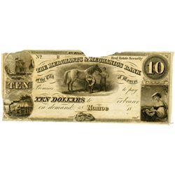 Merchants & Mechanics Bank, 1840's Remainder Banknote.