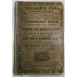 San Francisco Directory for 1875, Complete but slightly used.