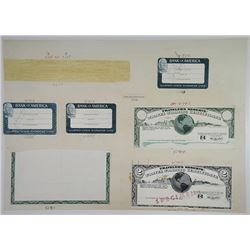 Jeffries Bank Note Company 1970's Proof Vignette Sheet