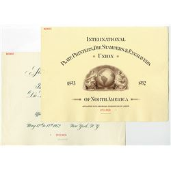Sixtieth Annual Convention of the International P.P, Die Stampers & Engravers Union, 1952 Specimen C
