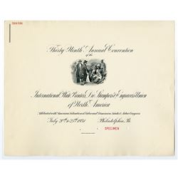 Thirty-Ninth Annual Convention of the International P.P, Die Stampers & Engravers Union, 1931 Specim