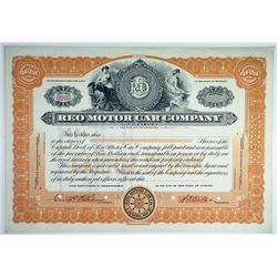REO Motor Car Co., ca.1920s-1930s Specimen Stock Certificate