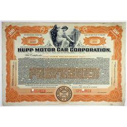 Hupp Motor Car Corp., ca.1920-1930s Specimen Stock Certificate