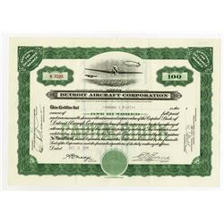 Detroit Aircraft Corp., 1930 I/U Stock Certificate.