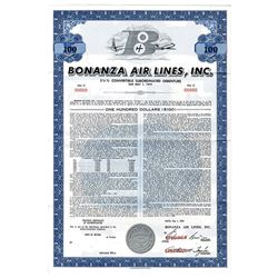 Bonanza Air Lines, Inc., 1964 Specimen Bond