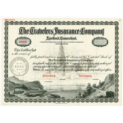 Travelers Insurance Company, ND (ca.1910-30) Specimen Stock Certificate.