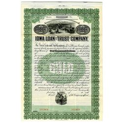 Iowa Loan and Trust Co., ca.1900-1910 Specimen Bond