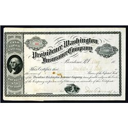 Providence Washington Insurance Co. 1886 I/U Shares.