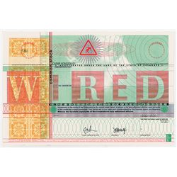 WIRED Internet Era Magazine Specimen Stock Certificate, 1993