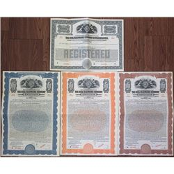 Bell Telephone Company of Pennsylvania, 1923 Specimen Bond Quartet.