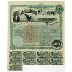 American Telephone Co., 1889 I/U Bond