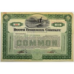 Booth Fisheries Co., 1912 Specimen Stock Certificate.