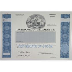 Dover Downs Entertainment, Inc. 1996 Specimen Stock Certificate