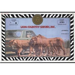 Lion Country Safari, Inc., 1978 Specimen Stock.