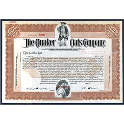 Quaker Oats Co., ca.1920-1940 Specimen Stock Certificate