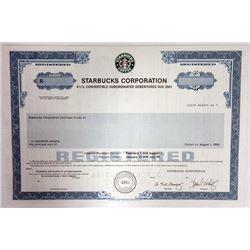 Starbucks Corporation 1994 Specimen Bond.