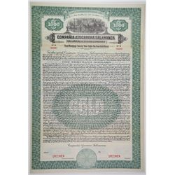Salamanca Sugar Co., 1923 Specimen Bond.