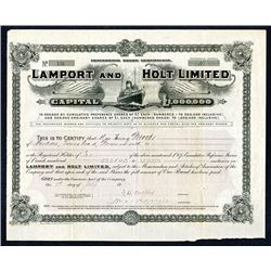 Lamport and Holt Limited 1912 I/U Share Certificate.