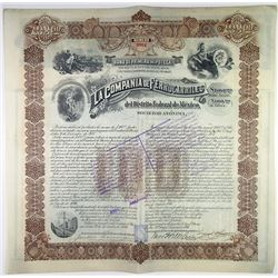 Compania de Ferrocarriles del Distrito Federal de Mexico, 1896 I/U Bond
