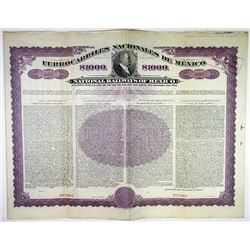 National Railways of Mexico, 1908 Specimen Bond