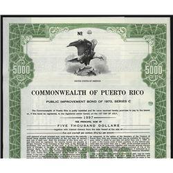 Commonwealth of Puerto Rico Public Improvement Bond.