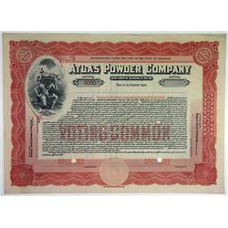 Atlas Powder Co., 1925 Specimen Stock Certificate