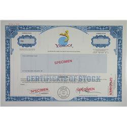 Yahoo!, 1995 Specimen Stock Certificate.