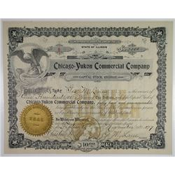 Chicago=Yukon Commercial Co., Alaska 1897 I/U Stock Certificate.