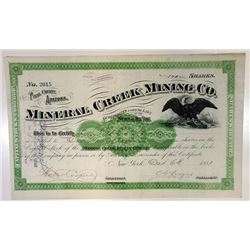 Mineral Creek Mining Co., 1881 Issued Stock Certificate
