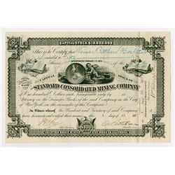 Standard Consolidated Mining Co., 1887 I/U Stock Certificate