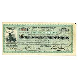 Hibernia Consolidated Mining Co., 1881 I/U Stock Certificate