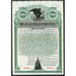 Omaha and Grant Smelting Co. 1892 Specimen Bond.