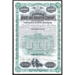 Idaho Mining and Irrigation Co., 1890 I/U 6% Gold Coupon Bond.