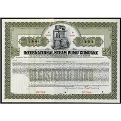 International Steam Pump Co. Specimen Bond.