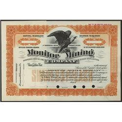 Monitor Mining Co., 1900-10 Specimen Stock Certificate.