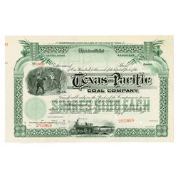 Texas and Pacific Coal Co., 1920-1930s Specimen Stock Certificate (would eventually become known as