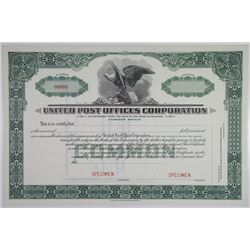 United Post Offices Corp., 1936 Specimen Stock Certificate.