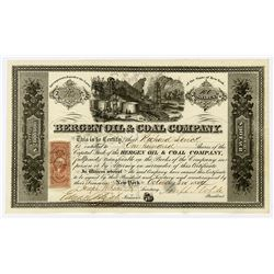 Bergen Oil & Coal Co., 1864 I/U Stock Certificate.
