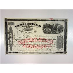 Central Petroleum Co. 1866 Issued Stock Certificate.