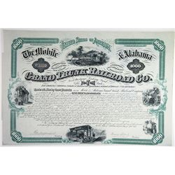Mobile & Alabama Grand Trunk Railroad Co. 1874 Bond