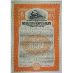 Kansas City and Memphis Railway Co. 1911 Specimen Bond