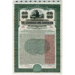 Colorado and Southern Railway Co., 1930 Specimen Bond