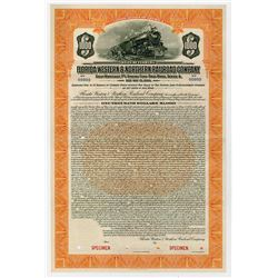 Florida Western & Northern Railroad Co. 1924. Specimen Bond.