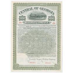 Central of Georgia Railway Co., 1905 Specimen Bond