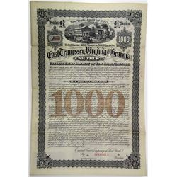 East Tennessee, Virginia and Georgia Car Trust, 1883 Specimen Bond.