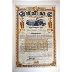 Chicago and Ohio River Railroad Co., 1886 Issued Bond.
