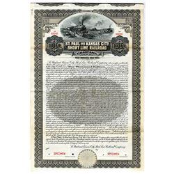 St. Paul and Kansas City Short Line Railroad Co., 1911 Specimen Bond
