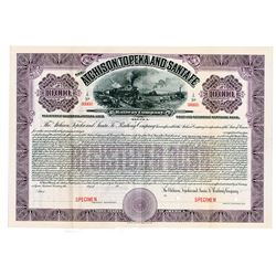 Atchison, Topeka and Santa Fe Railway Co. - California-Arizona Lines, 1912 Specimen Bond